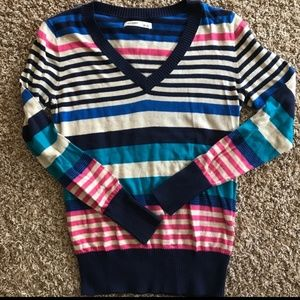 Striped multi-colored Old Navy sweater